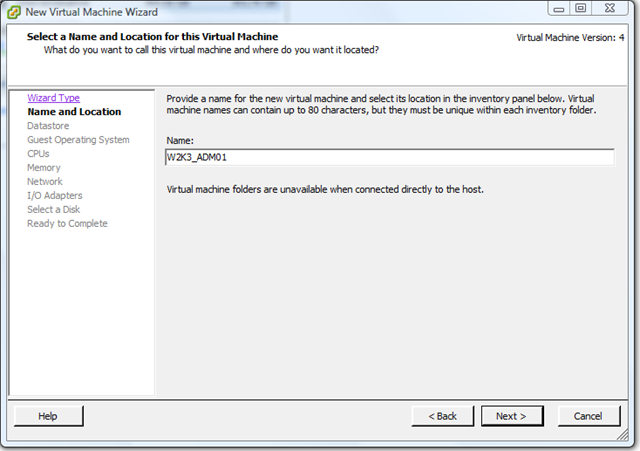 VMware ESX – How to easily recreate a missing or corrupt VMX