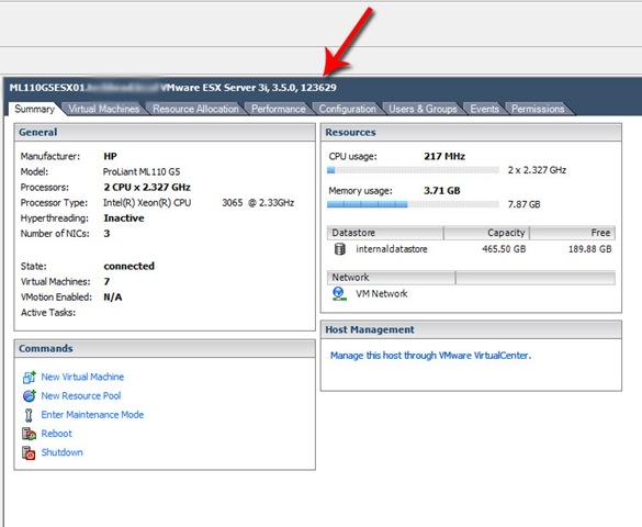 How to Determine the VMware ESX or ESXi Build Version
