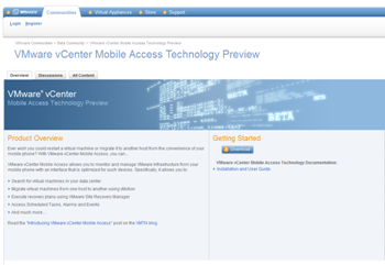 VMware vCenter Mobile Access – Now Available for Download