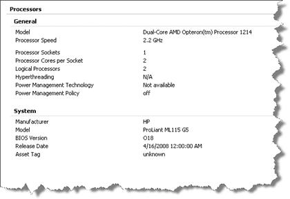 ML115 G5 - vSphere ESX 4.0