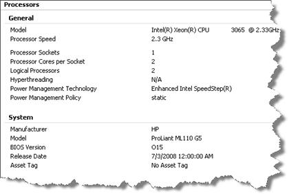 ML110 G5 - vSphere ESX 4.0