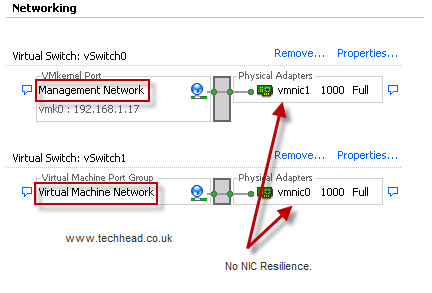 How to Provide Management and General VM Network Resilience