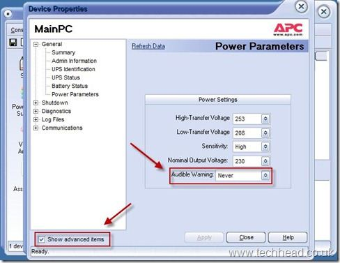 APC Smart UPS – How to disable the audible warning