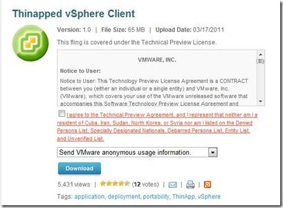 Thinapped vSphere Client – Run it from anywhere