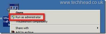 VMware vSphere Client - Error 1406 run as administrator