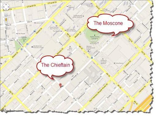vBeers Tweetup Map