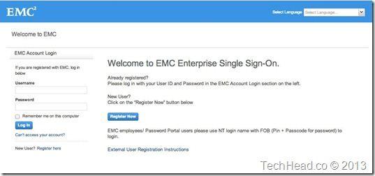 EMC VNX VSA- Download Logon