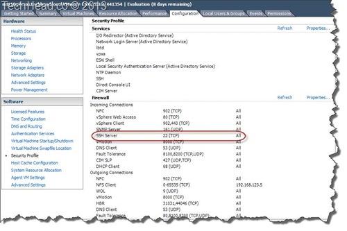 Firewall SSH 5.1 enable