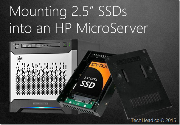 "Mounting 2.5"" SSDs into an HP MicroServer"